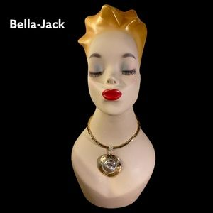 NWT Bella Jack Gold & Crystal Necklace